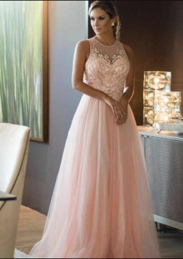 5c7ff3e39b3ea4 Blush Pink Prom Dress with Beaded Bodice by prom dresses on Zibbet