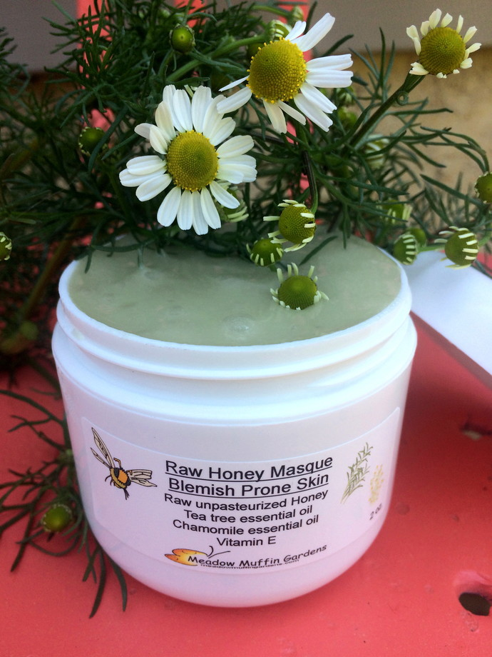 Raw Honey Facial Mask, Blemish Prone Skin, wound care, burns, tea tree,