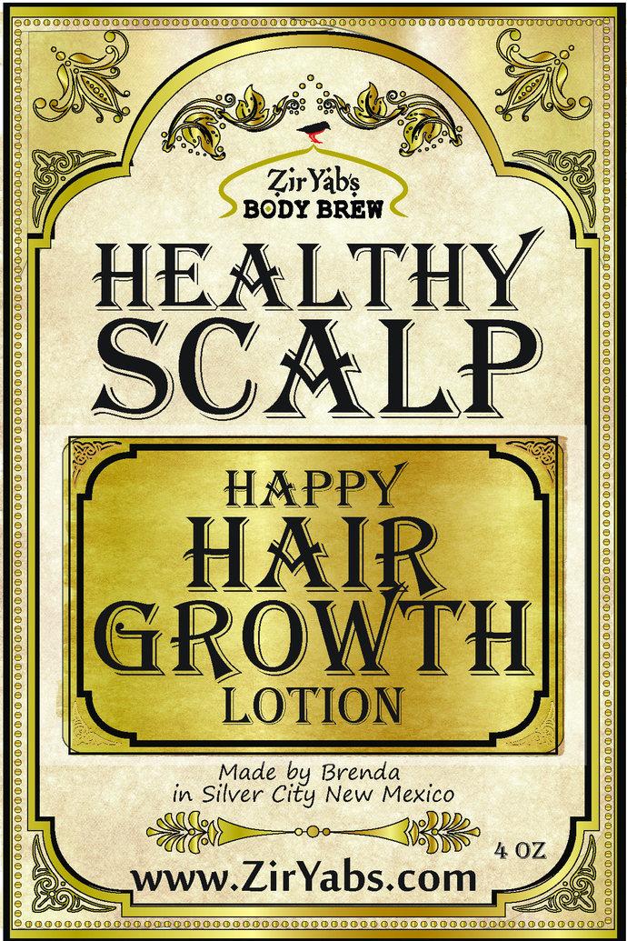 Alopecia Hair Growth Lotion | 6 oz | Healthy Scalp Happy Hair Zinc Oxide,