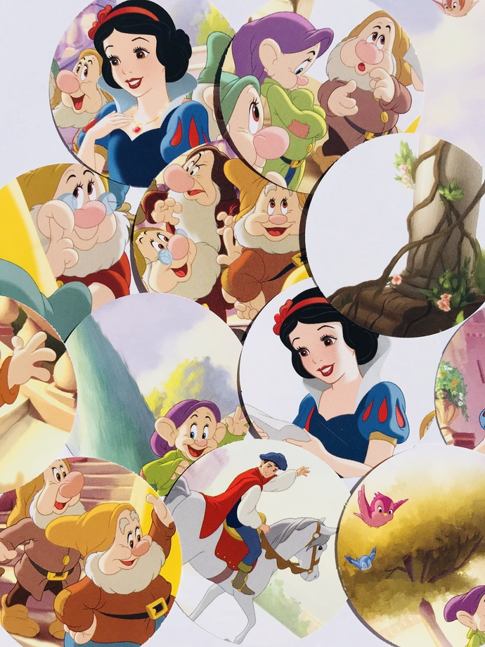 25 Disney Snow White Scrapbooking Cardmaking Embellishments Planner Die Cuts