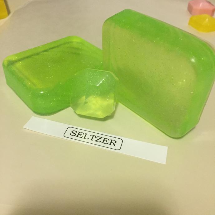 Seltzer Cucumber Mint Glycerin Glitter Soap Bar