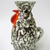 Vintage,Hungarian ceramic rooster candle holder