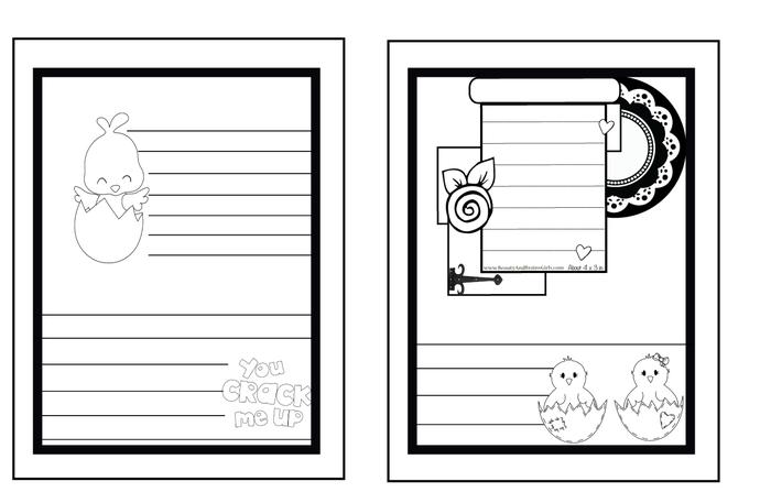 Custom Printable Art Journal Easter Themed-Printable Journal-Writing Journal DIY