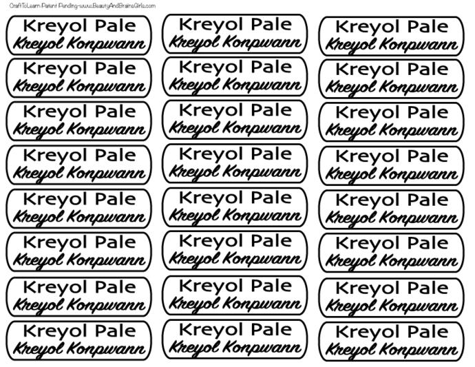 Custom for Mari-Pierre- Creole Pale Creole Konpwann