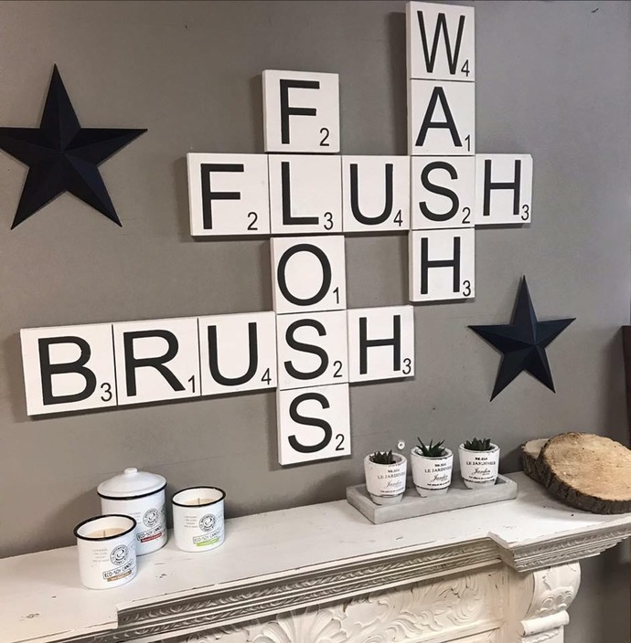 BATHROOM SCRABBLE TILES- ORDER