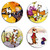 Calvin and Hobbes Set wooden Drink Coasters