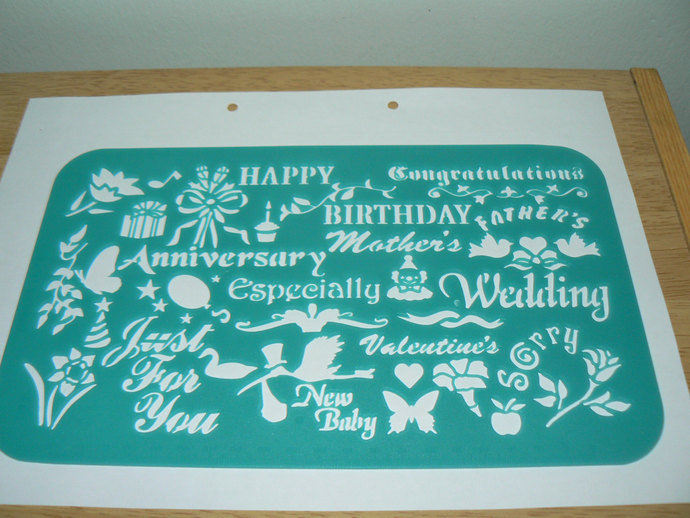 Type 09 english greeting wedding wishes shape by isincerely on zibbet type 09 english greeting wedding wishes shape plastic drawing stencil template m4hsunfo