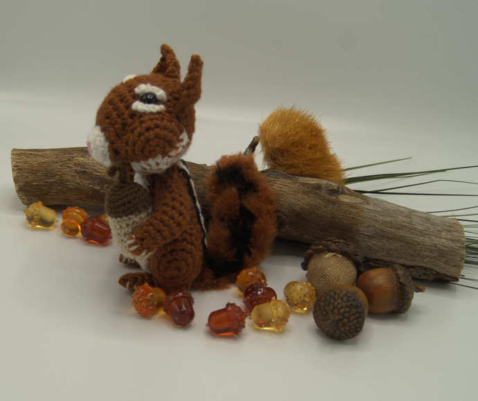 Chipmunk Amigurumi /Crochet Chipmunk Toy