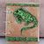 Happy Little Iguana Journal - handcrafted journal - refillable