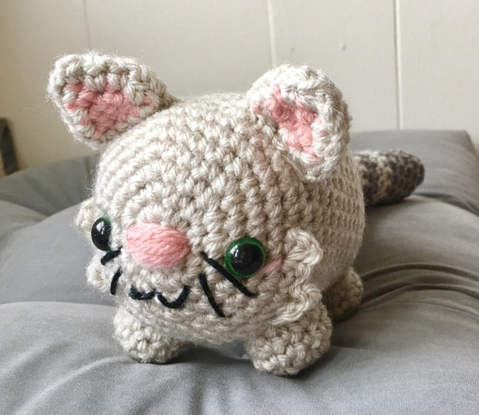 READY TO SHIP Stuffed Kitty Cat - Amigurumi, Toy, Plush
