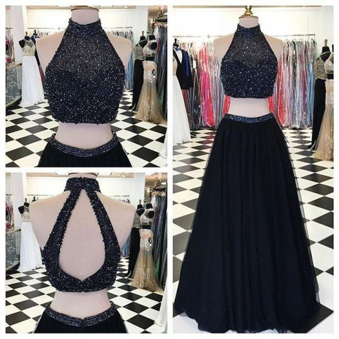 2 Piece Prom Gown,Two Piece Prom Dresses,Evening Gowns,2 Pieces Party