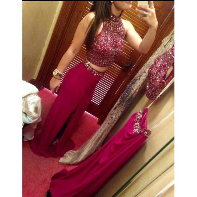 2 piece Prom Dresses,2 Piece Prom Gown,Two Piece Prom Dresses,Prom Dresses,New