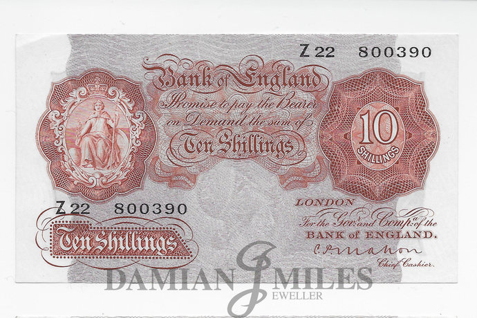 Mahon 10 Shilling Note. First Series Z22