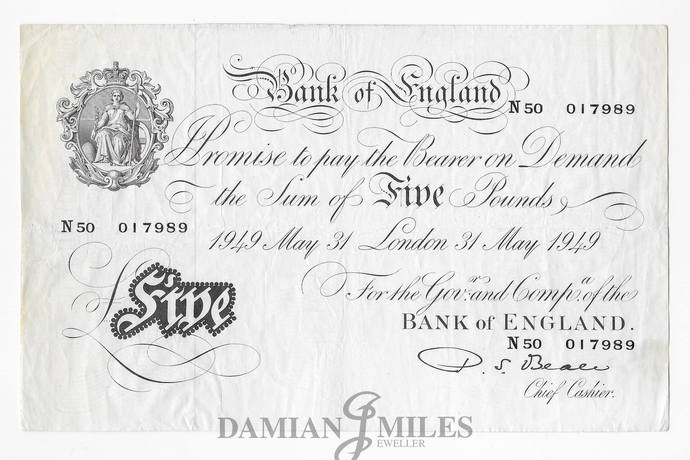 White Fiver. D. S. Beale White Five Pounds