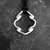 Silver pendant. Sterling silver open form twisted pendant