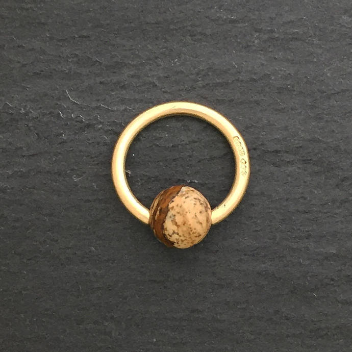 9ct Gold Bead Closed By Damian Miles Jeweller On