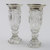 Pair of Antique Cut Glass and Sterling Silver vases
