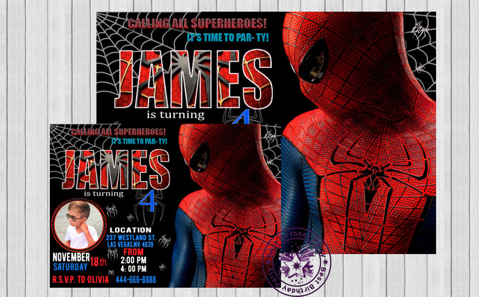 Spiderman invitation spiderman birthday by bestbirthdayparty on zibbet spiderman invitation spiderman birthday invitation movie theme birthday party stopboris