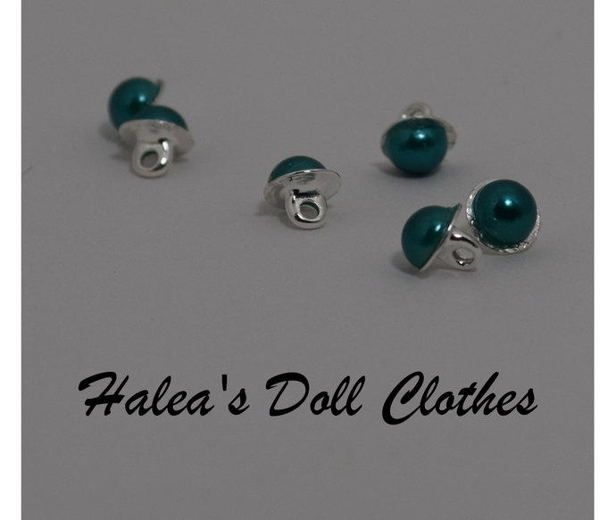 Doll Clothes Shaft Buttons Green 6mm 6 mm BUT-3