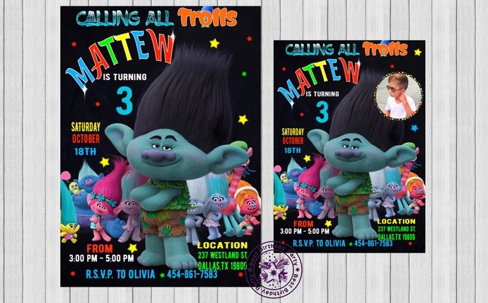 picture about Trolls Printable Invitations titled Trolls Invitation, Trolls Social gathering, Trolls Birthday Invitation, Printable Trolls Invitation, Boy Trolls Invitation, Trolls invitation boys,