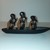 Hand carved Ebony boat with 3 sailors