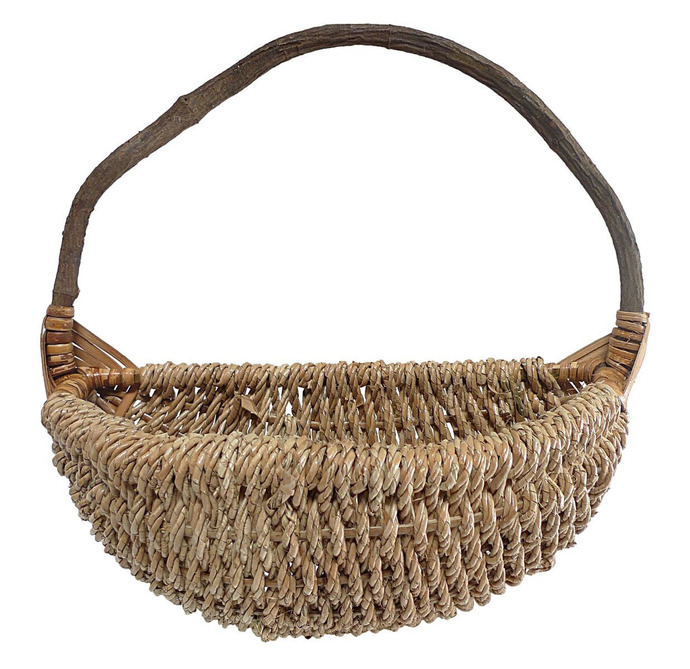 Cheungs Wall Hanging Rope Basket with Vine Rear Handle - Large