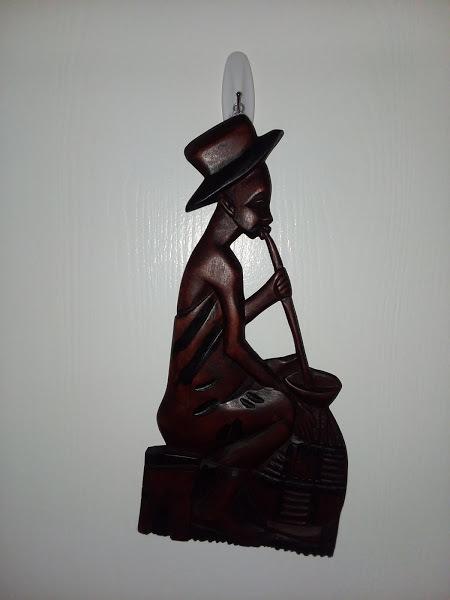 """15"""" Mahogany wood carved man"""