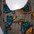African handmade orange, black and blue cross bag