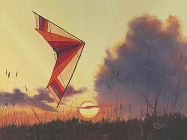 """Sunset Hawaiian"" Giclee Paper Print by Carol Thompson"