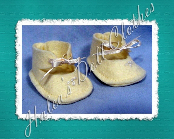 PDF Sew Pattern TT-7378 Booties Shoes To Fit 12 Inch Tiny Tears