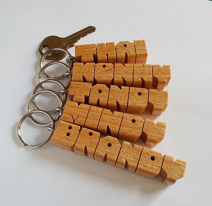5  NAME SPECIAL - Wood Name Keychains - Personalized - Carved to Order - FREE
