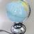 World globe lamp, Vintage lamp, Planet Earth, in English language