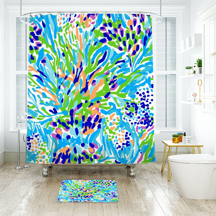Lilly Pulitzer Waterproof Fabric Shower by NathalyShop on Zibbet