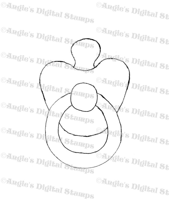 Baby Pacifier Digital Stamp