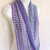 SOLD * Infinity Moebius Scarf, spiral crocheted in Cool Pastel Green Purple