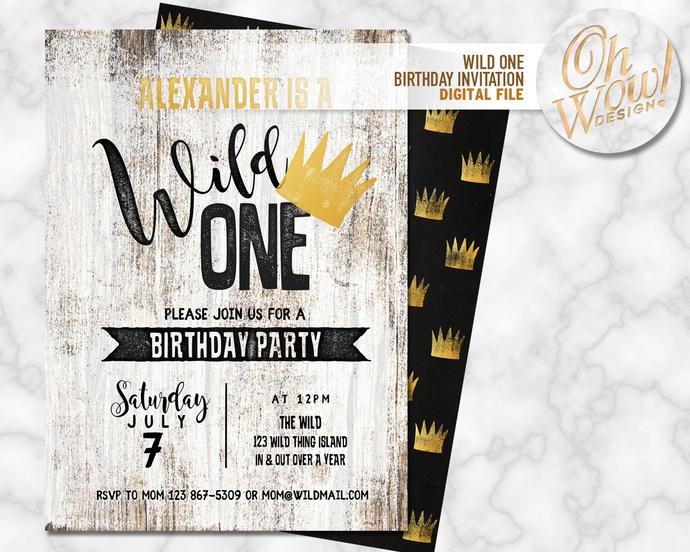 wild one birthday invitation digital file by ohwowdesign on zibbet