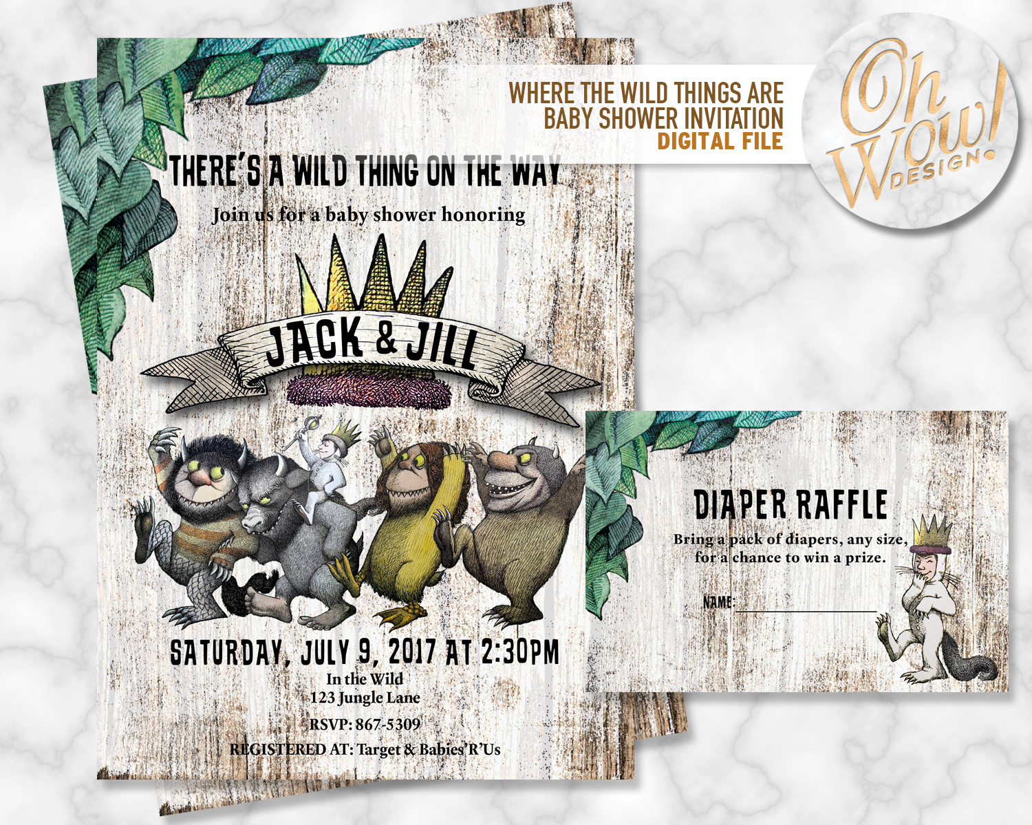 Where the Wild Things are Baby Shower by OhWowDesign on Zibbet