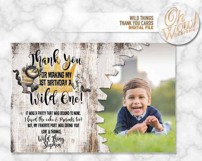 Where The Wild Things Are Custom Thank You By Ohwowdesign On Zibbet