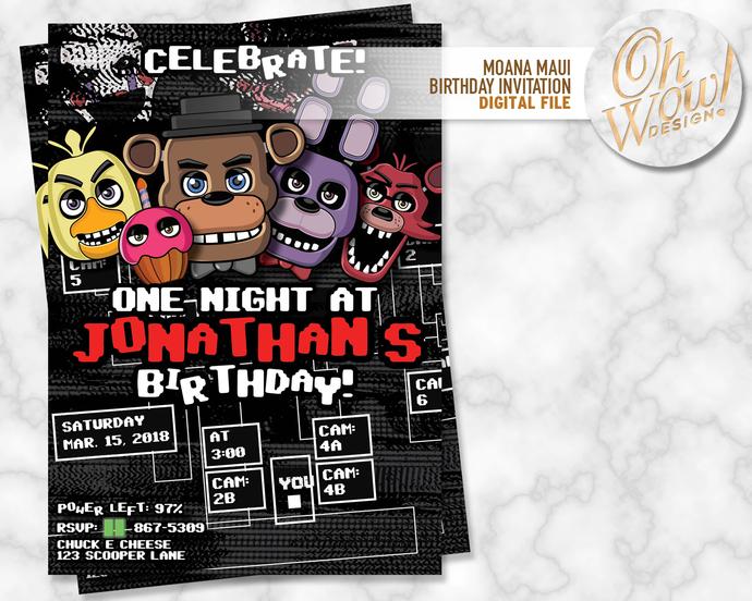 Five Nights Birthday Invitation: Digital file