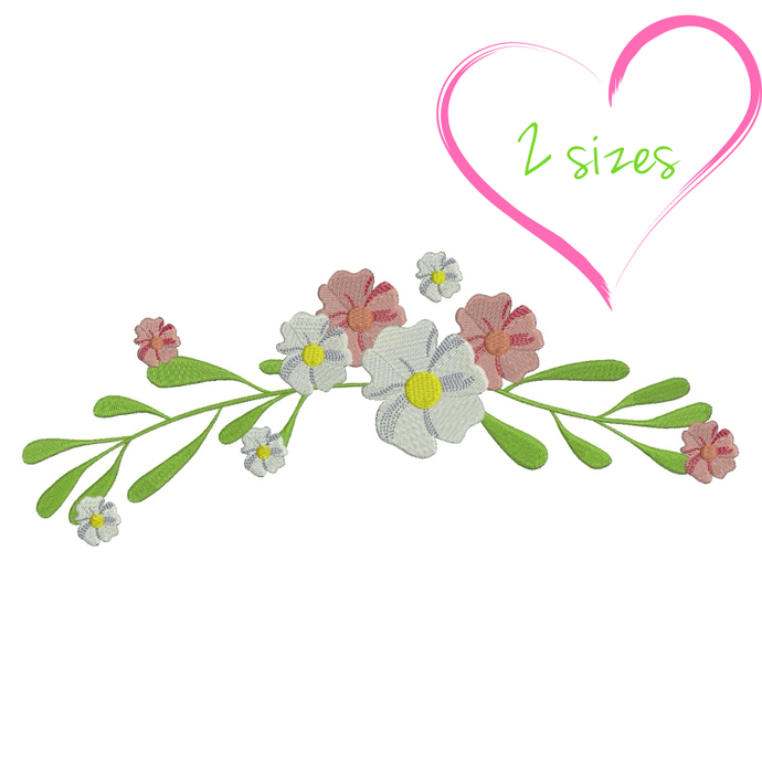 Flower machine embroidery design spring designs instant digital download mom