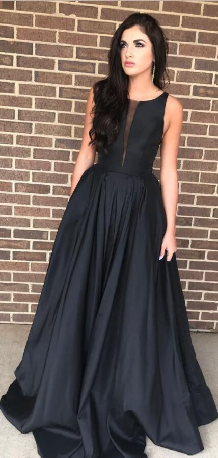 Elegant Black Long Prom Dress Party Dress By Prom Dresses On Zibbet