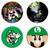Luigi Set wooden Drink Coasters