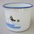 Vintage enamel  mugs with penguin pattern