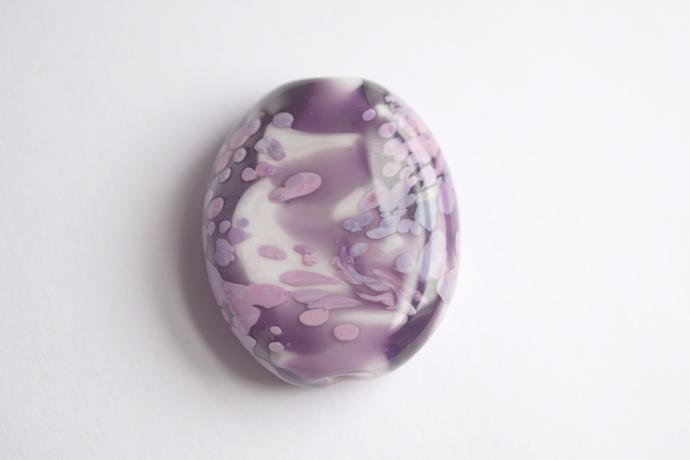 Sakura Springtime Glass Bead, in purple