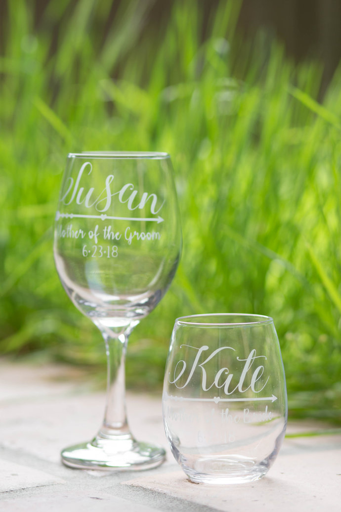 Boho Style Mother of the Bride Toasting Glass and Gift for Mother of the Groom