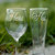 His and Hers Glasses, Set of 2, Wedding Toasting Glasses, Anniversary Gift,