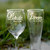 Gift for Bride and Groom, Toasting Glasses with Wedding Date, More Glass Types