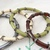 Wire Wrapped Skinny Bangle Bracelets in Earth Tone Colors