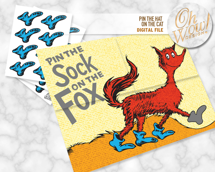 Pin the Socks on Fox: Digital File