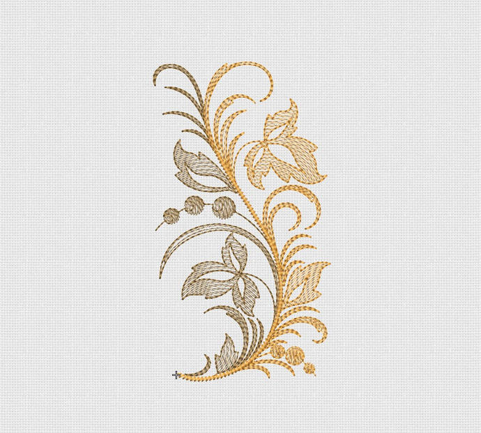 Machine Embroidery Designs Embroidery autumn twig Digital embroidery embroidery